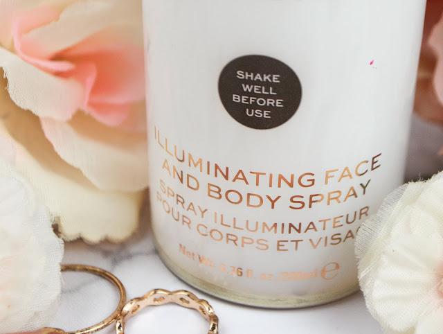 Makeup Revolution Glow Revolution  Illuminating Face & Body Spray, in Eternal Gold Review   Lovelaughslipstick Blog