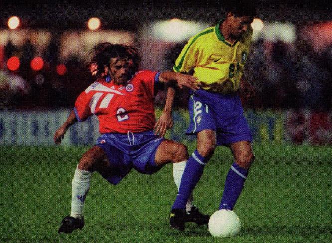 Brasil y Chile en partido amistoso, 2 de abril de 1997