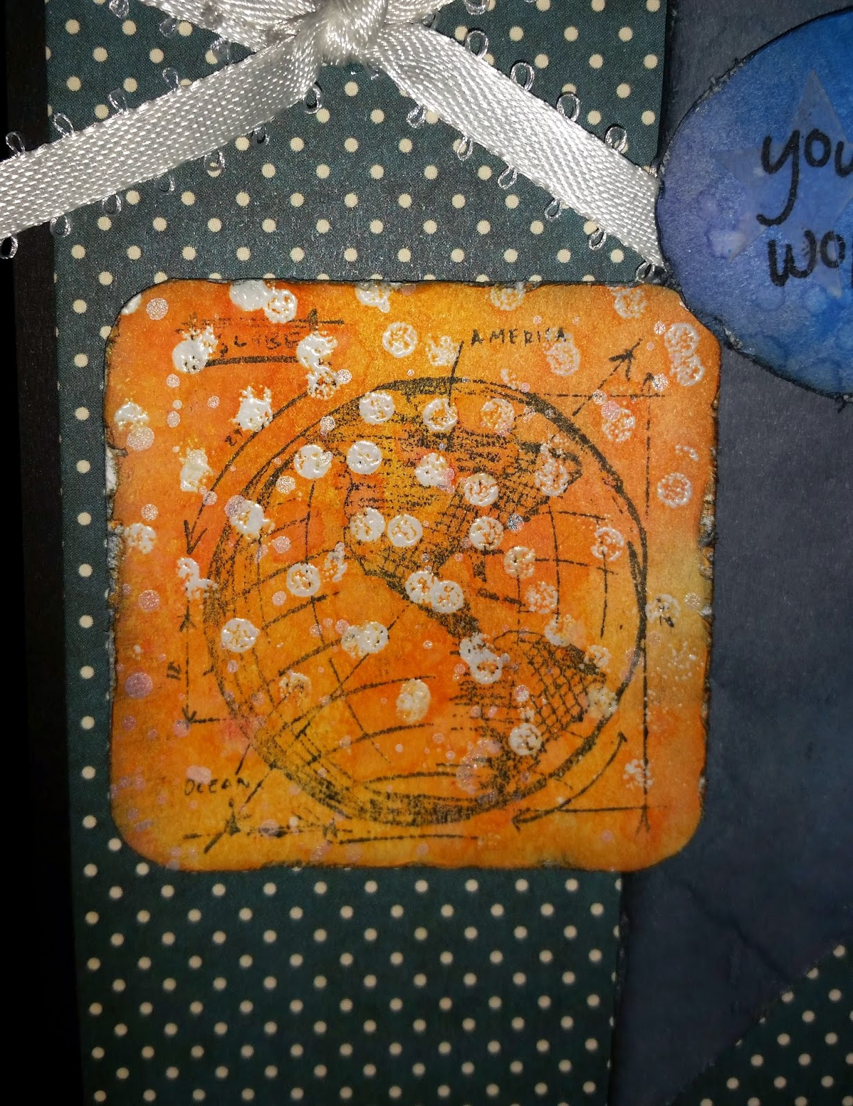 You Make My World Happy - Distressed Close Up, Tim Holtz