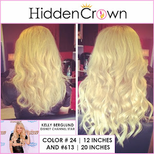 Disney star Kelli Berglund in Hidden Crown Extensions for movie Premiere.