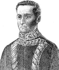 Dibujo del marqués de Torre Tagle de militar