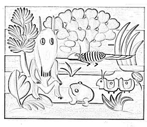 Desenhos De Tarsila Do Amaral Para Pintar Atividades Pedagogicas