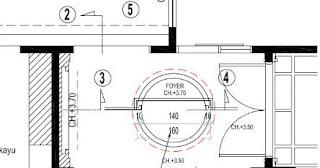 gambar design foyer gypsum