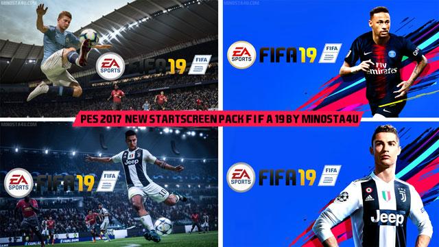 FIFA 19 Startscreen Pack For PES 2017