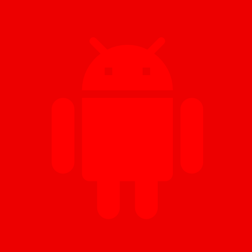 red Android droid figure