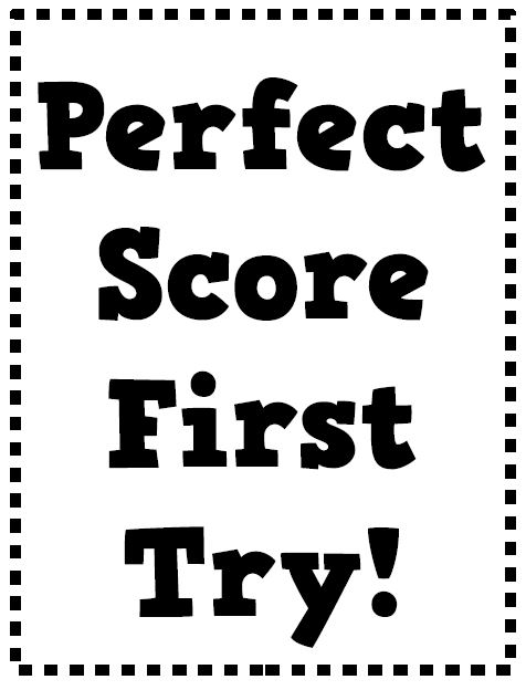 Math = Love: Perfect Score First Try! Poster and Bulletin