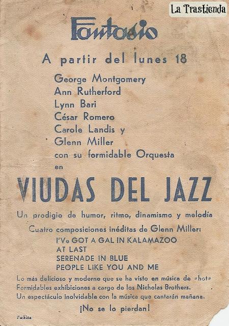 Programa de Cine - Viudas del Jazz - Ann Rutherford - George Montgomery - César Romero