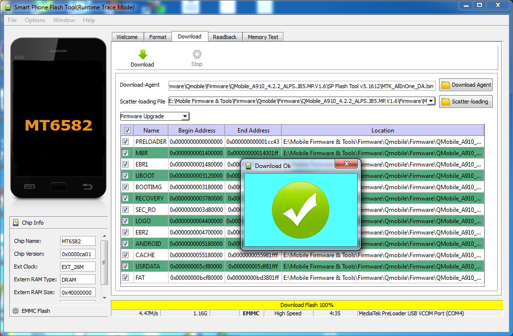How To Flash QMobile A910 Without BOX