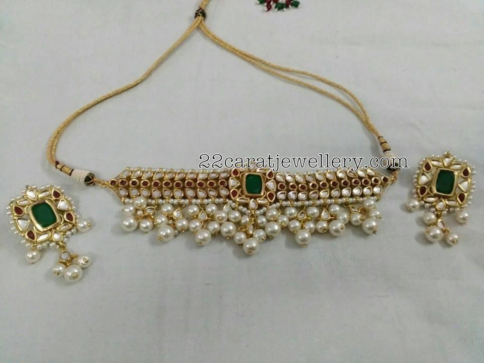 Silver Metal Kundan Jewelry - Jewellery Designs