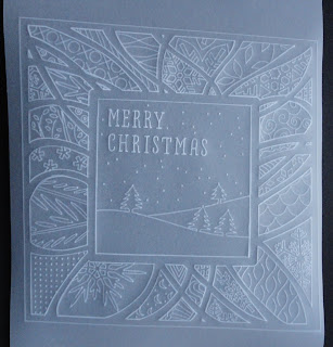 Parchment Christmas frame and greeting
