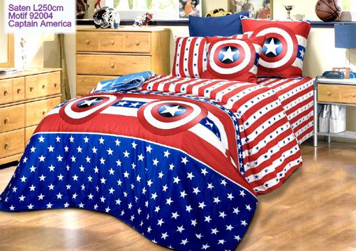 Sprei Anak Motif Captain America