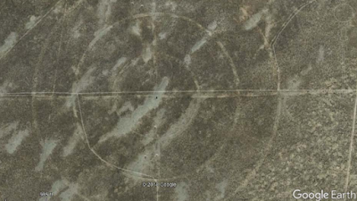 Strange symbol etched in to the ground as seen from Google Earth.