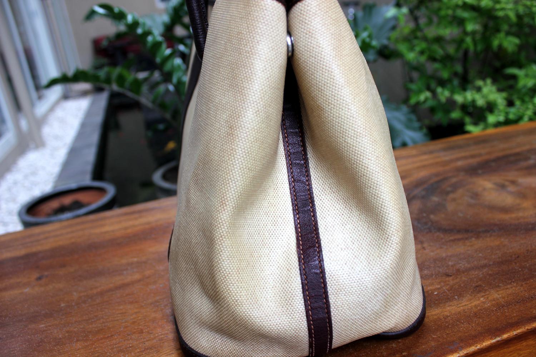 7e2fb8eb627982 Verish Bags: Hermes Garden Party Canvas Leather # F