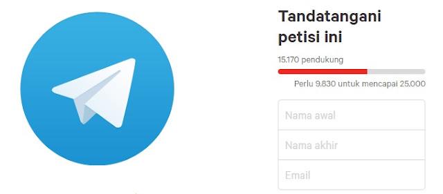 Voting Batalkan Blokir Telegram