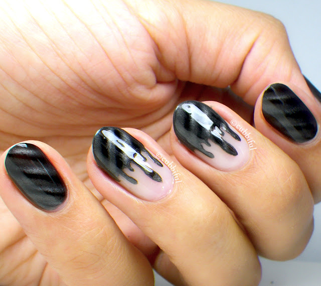 Magnetic Drips Nail Art