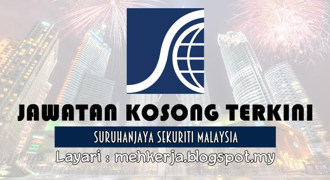 Jawatan Kosong Terkini 2016 di Suruhanjaya Sekuriti Malaysia