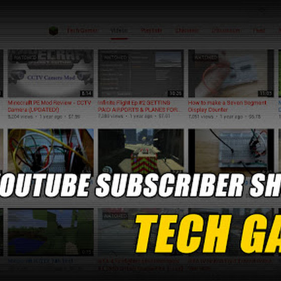 YouTube Subscriber Shoutout ★ Tech Gamer