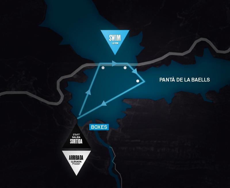 Sailfish Half Triatló Berga : SWIM
