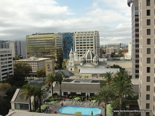 view from guest room at The Fairmont San Jose in California