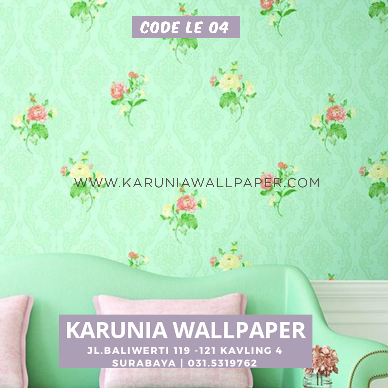 wallpaper dinding hijau