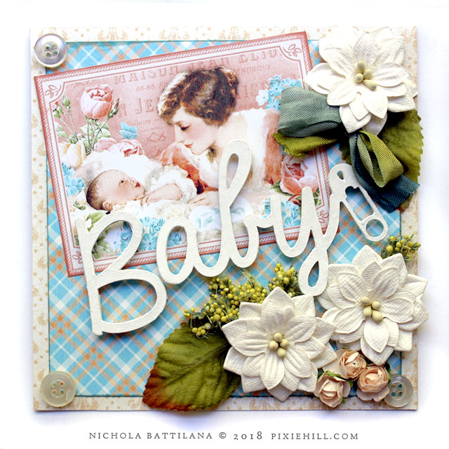 Graphic 45 Precious Memories Baby Card - Nichola Battilana