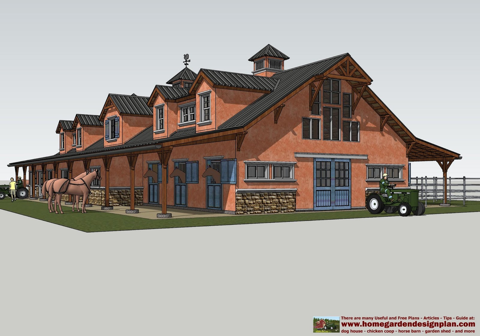 barn plans stable designs building plans for horse - HD1600×1123