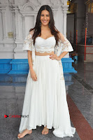 Telugu Actress Amyra Dastur Stills in White Skirt and Blouse at Anandi Indira Production LLP Production no 1 Opening  0075.JPG