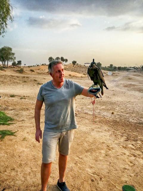 Beim Falkner in den Emiraten