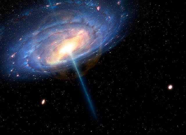 El geiser atraviesa toda la galaxia