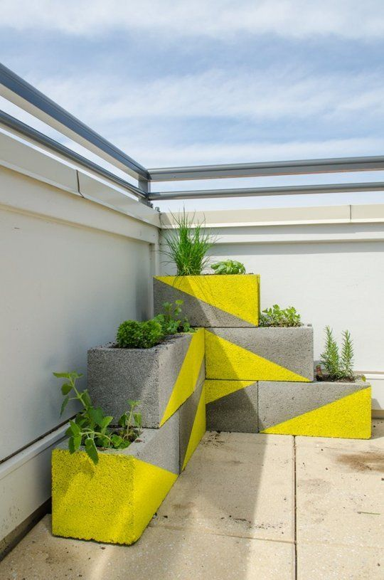 20 decoration ideas to make with concrete blocks 19