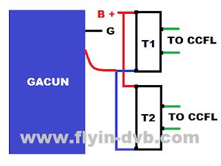 Cara Memodifikasi DC to DC Inverter Backlight LCD Polytron PLM 24B33 dengan Gacun