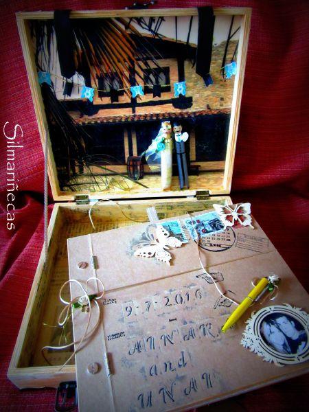libro de firmas para boda - interior