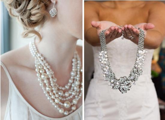 Bigiotteria per la sposa, statement necklace, collana per la sposa, gioielli per la sposa, perle