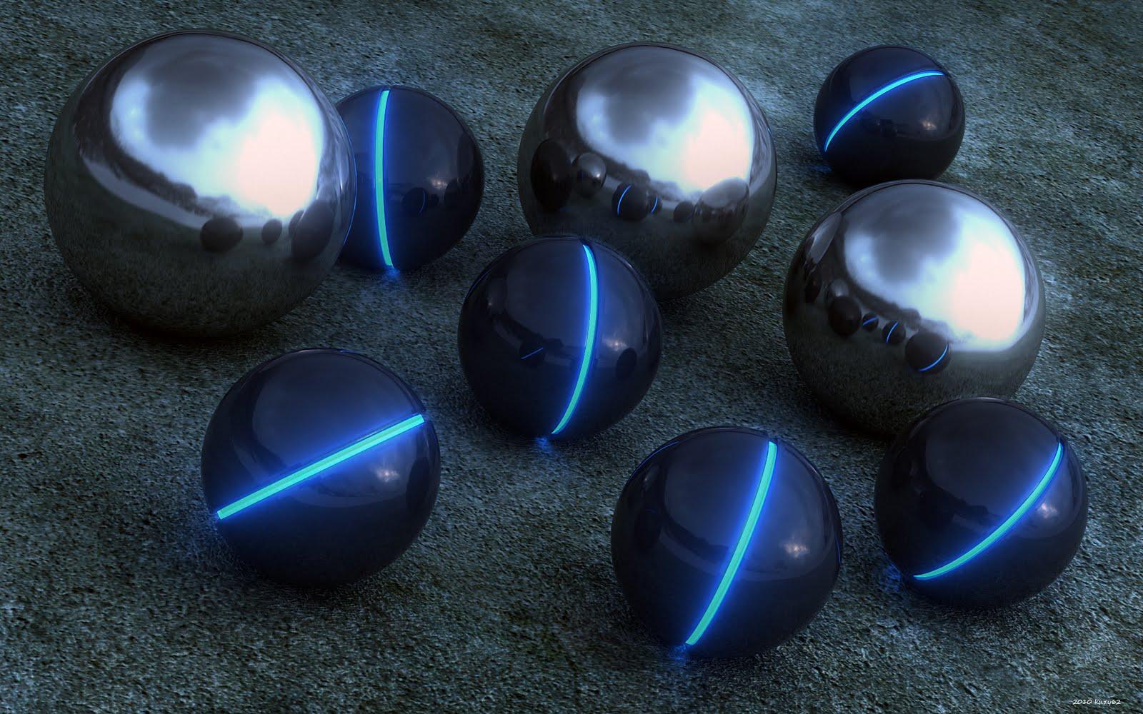 3D Glass Balls Reflection HD Desktop Wallpapers | Desktop ...