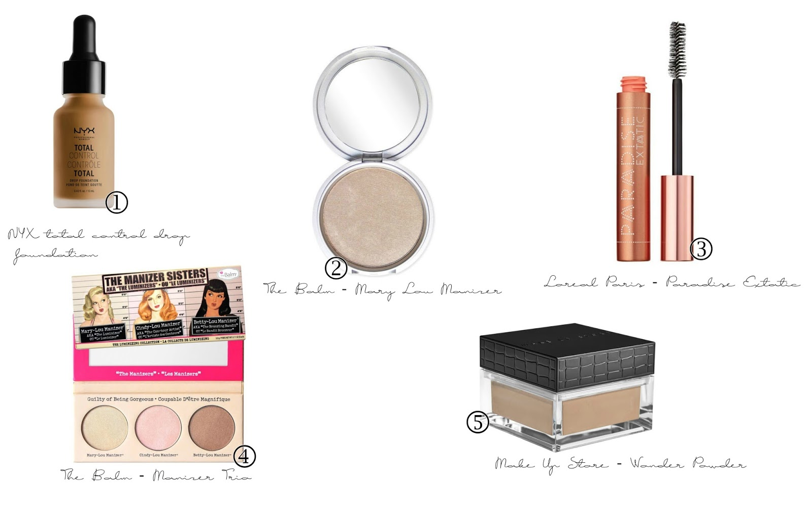 nyx loreal thebalm mascara foundation