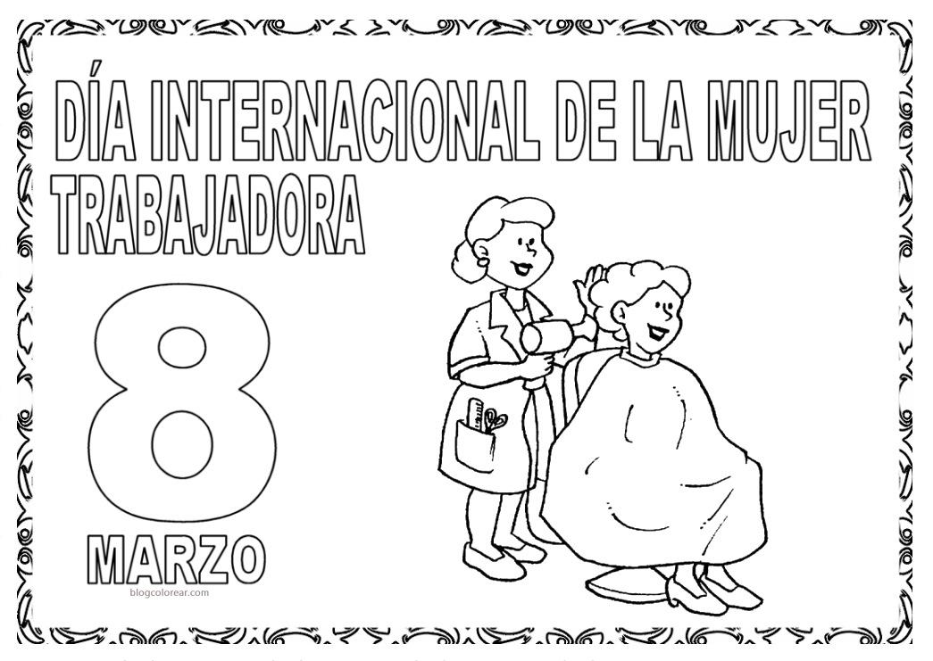 Best Imagenes De Tarjetas Para El Dia De La Mujer Para Colorear