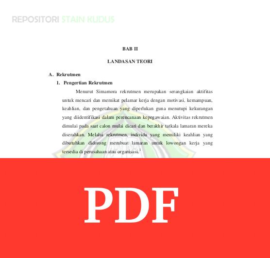 Contoh Bab 2 Skripsi Dengan Tema Rekrutmen Karyawan Arsip Org