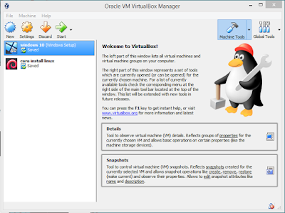Cara Setting VirtualBox