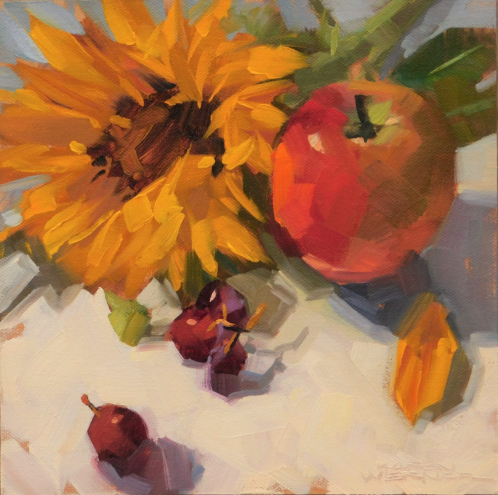 I Painted This Simple Arrangement As A Final Demo For My Last Workshop Gala Apples Will Give You Run Your Money With Their Subtle