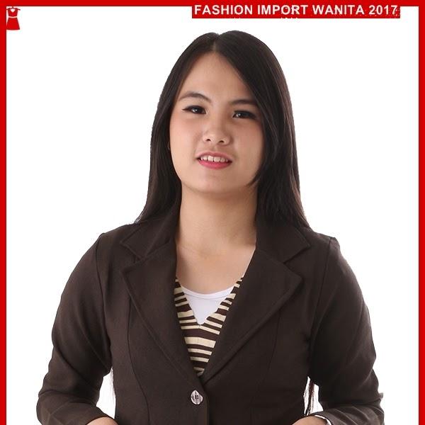ADR132 Blazer Wanita PPP Brown Import BMGShop