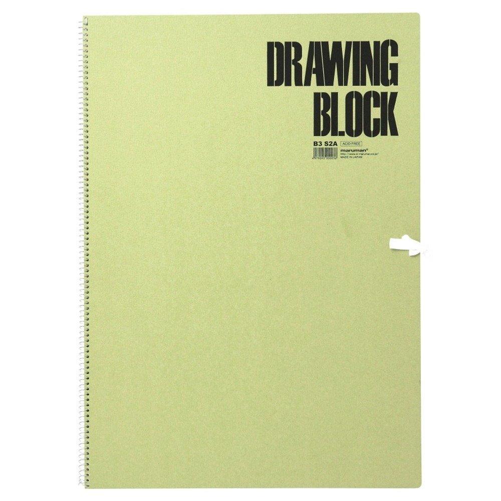 マルマン B3 スケッチブック オリーブシリーズ 厚口画用紙 20枚 S2A