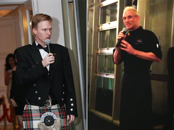 Left: Matthew Fergusson-Stewart, Brand Ambassador of William Grant & Sons' in Southeast Asia Right: Chef Emmanuel Stroobant