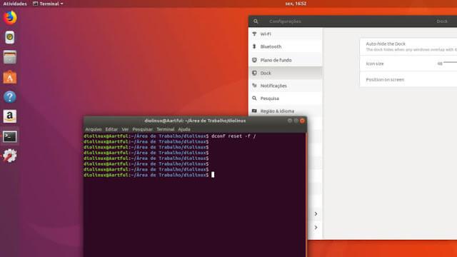 Ubuntu de volta ao padrão