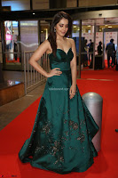Raashi Khanna in Dark Green Sleeveless Strapless Deep neck Gown at 64th Jio Filmfare Awards South ~  Exclusive 075.JPG