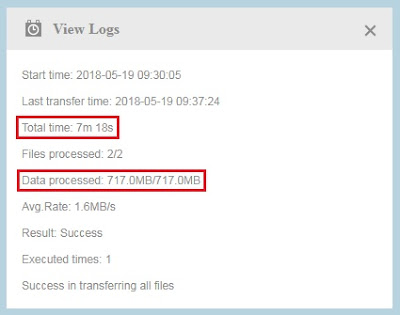 Transfer File Sukses