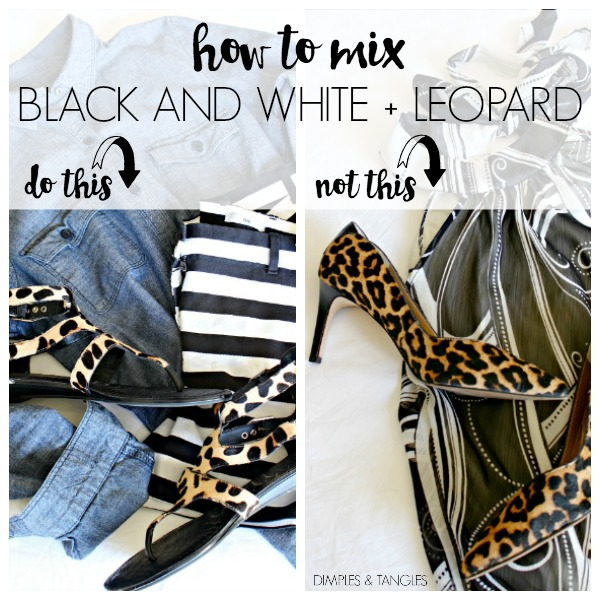 leopard heels, black and white, outfit ideas, fashion, chambray shirt
