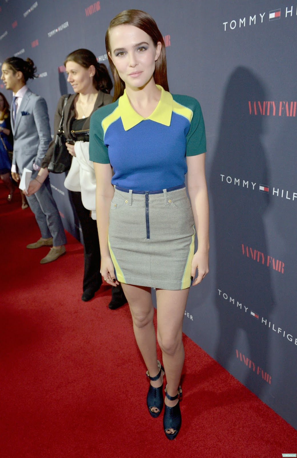 3efc2a565dbe Zoey wore a Tommy Hilfiger Spring 2014 Collection Top and Skirt and a pair  of Bionda Castana Christa Woven Sandals.