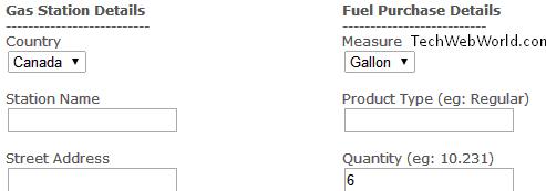 gas receipt