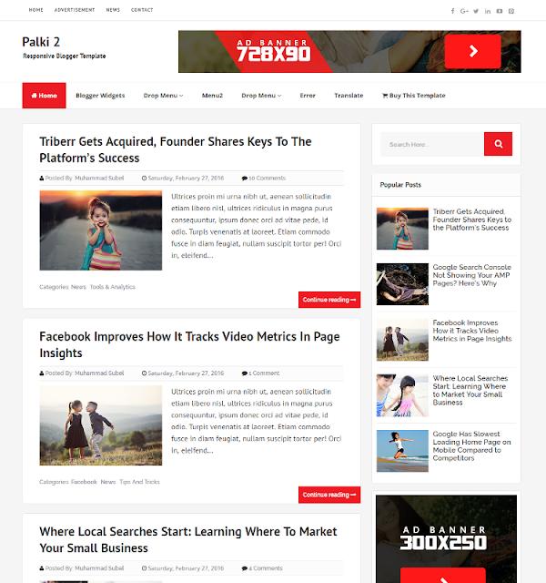 Palki 2 - Personal Blogger Template