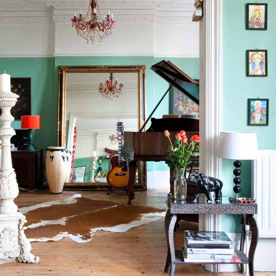 Victorian Room Colors: New Home Interior Design: Take A Tour Around An Eclectic